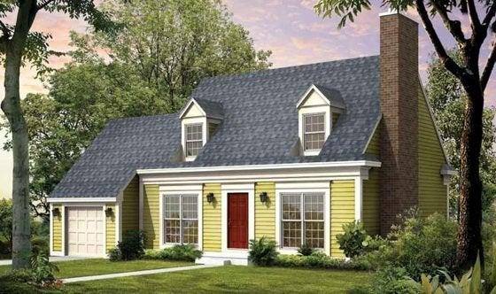 Cape Cod House Style House Plan