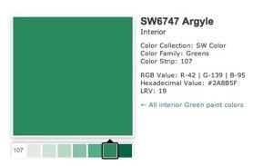 Sherwin Williams Argyle Green 2012 Color Bob Vila