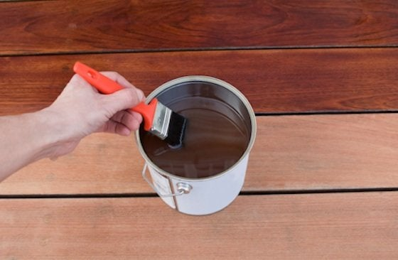 How to Stain a Deck - Step 2