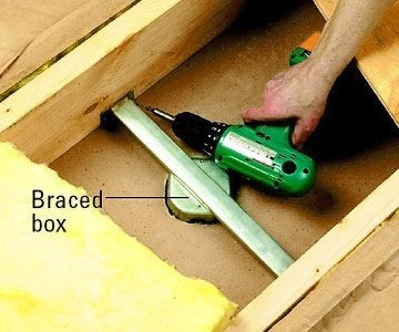 How to Install a Ceiling Fan - Braced Bracket