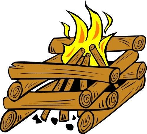 Scoutlander Log Cabin Fire