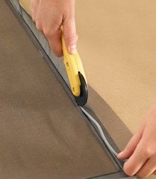 How to Replace a Window Screen - Cut Excess