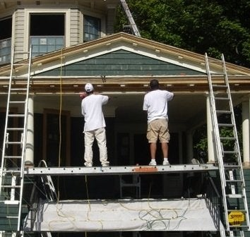 How to Paint a House - Porch