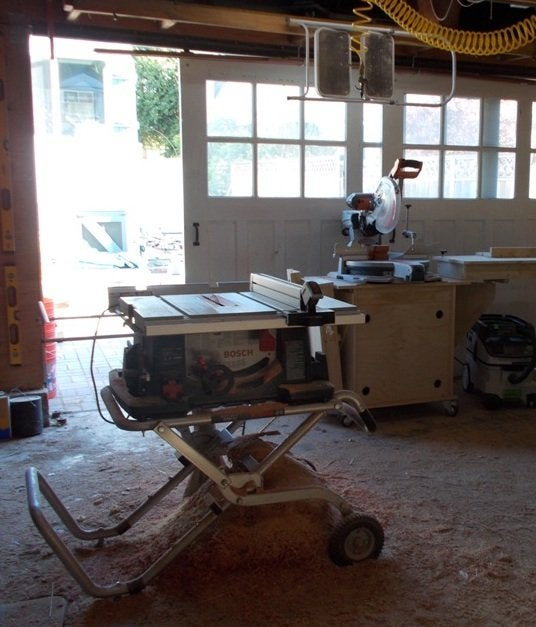 Meryl Chris Picardy Project Blog Stars Table And Radial Saws Garage Workshop