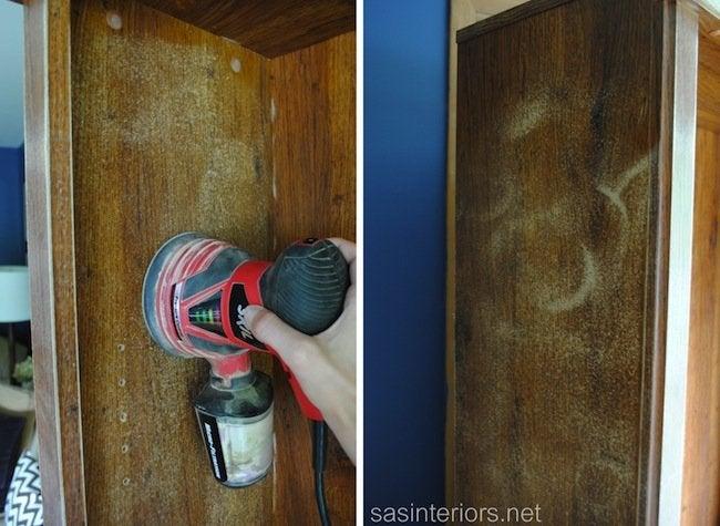 How to Paint Laminate - Sanding Interior