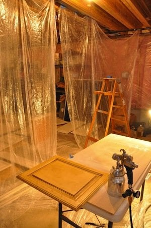 How to Paint Cabinets - Spray Booth