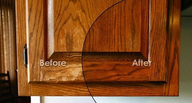 Before And After Cabinet Restoration Homemsprealestateblog