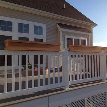 April Projects - Deck Rail Planter