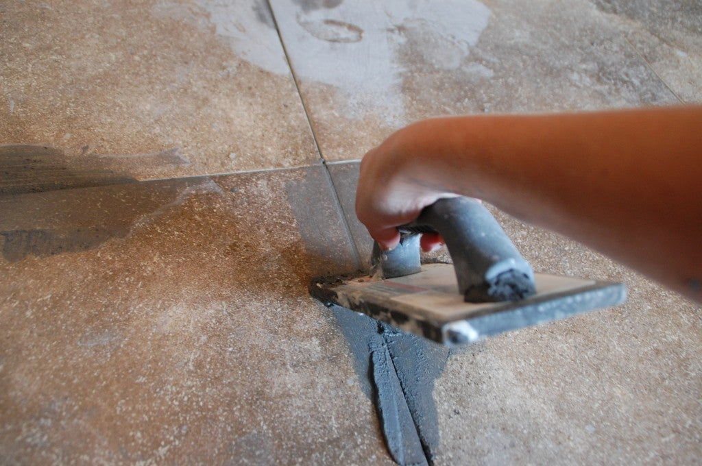 How to Grout Tile - Swipe