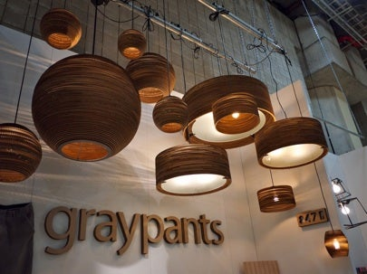 recycled, lighting, cardboard, graypants