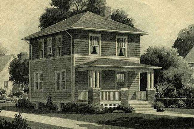 Sears' Cornell Design for a Foursquare House