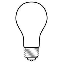 GE light bulb incandescent