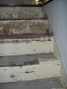 stairs, repair, risers and treads