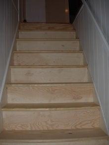 stairs, pine, risers, treads, stairway