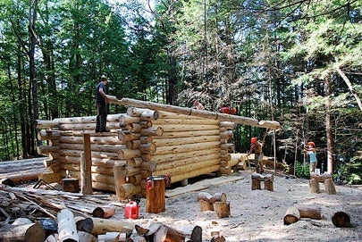 Titcomb Cabin, log cabin, Darmouth, Lucas Schulz