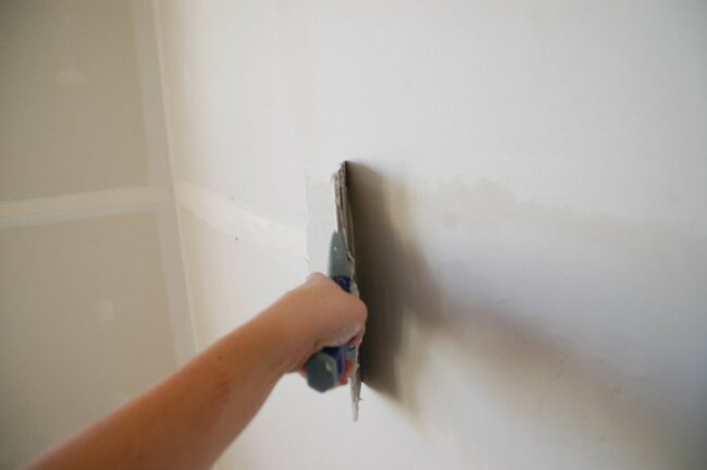 How to Finish Drywall Joints - Swipe 2