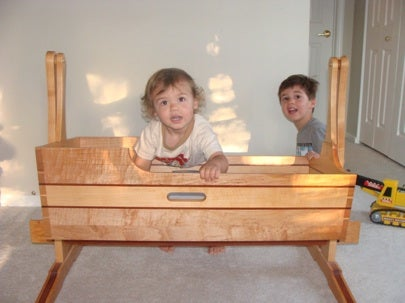 Tay River Builders handmade wood cradle