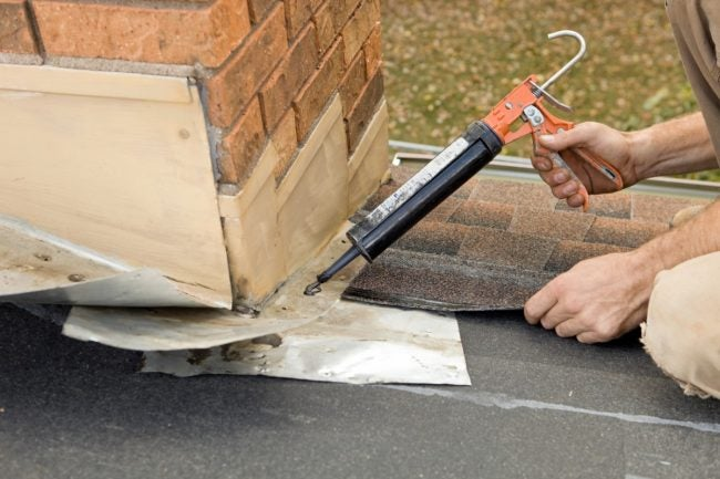 Repairing a Leaky Roof Around the Chimney Flashing