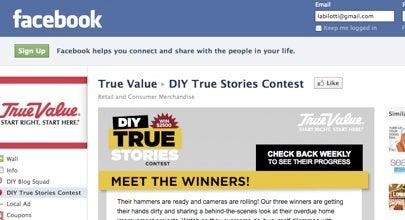 """True Value Facebook """"DIY True Stories"""" screen shot"""