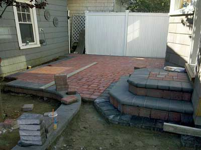 Paver Patio - In Progress