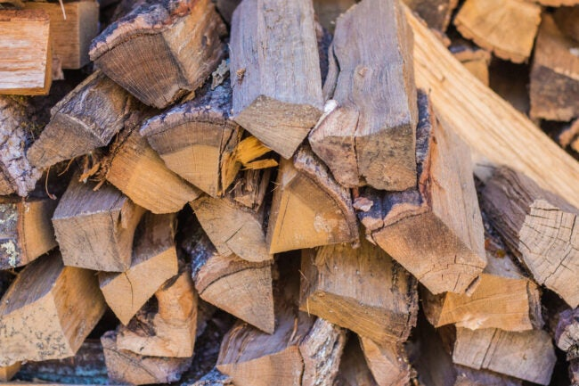 how to stack firewood storage