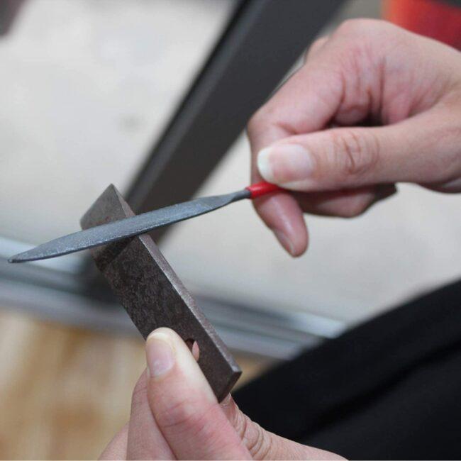 sharpen spade bit