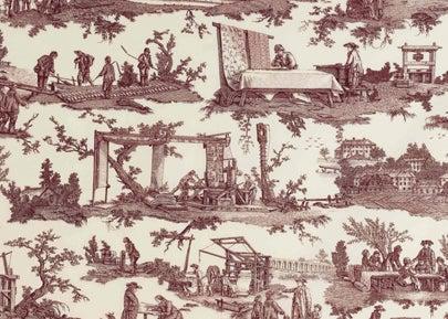 """Pierre Frey's """"Les Travaux de la Manufacture"""" Toile"""