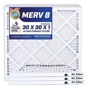 The Best Furnace Filter Option: Filter King MERV 8 Pleated AC Furnace Filters
