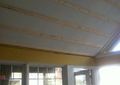 Wood Ceiling Installation - Firring