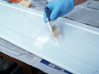 How to Paint Kitchen Cabinets - Brushing