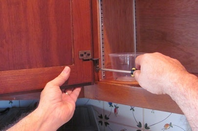How to Paint Kitchen Cabinets - Removing Hardware