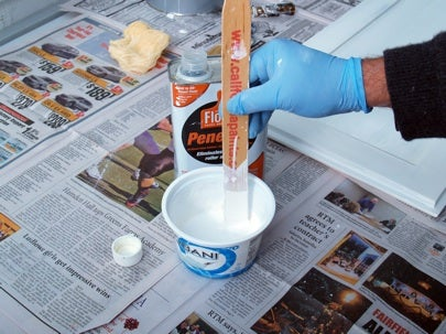 How to Paint Kitchen Cabinets - Thinning Paint