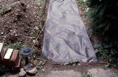 How to Build a Slate Walkway - Liner