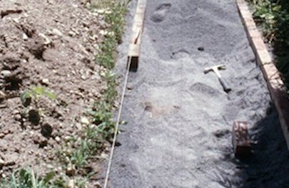 How to Build a Slate Walkway - Brick Border