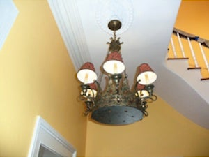 GSteves Stairway Makeover Chandelier