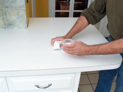 How to Resurface Laminate Countertops - Sealer Detail 2