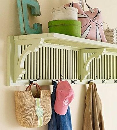 Repurpose Shutters - Shelf Unit