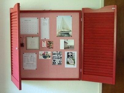 Repurpose Shutters - Bulletin Board