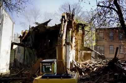 Habitat Builder Blitz, Newburgh, NY demolition