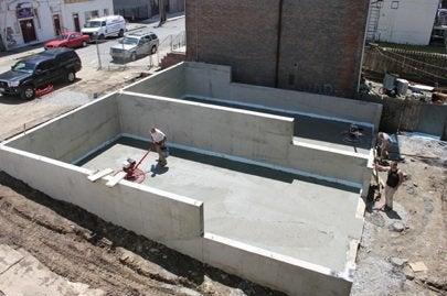 Habitat Builder Blitz, Newburgh, NY pouring the foundation