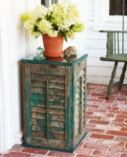 Repurposed Shutters - Side Table