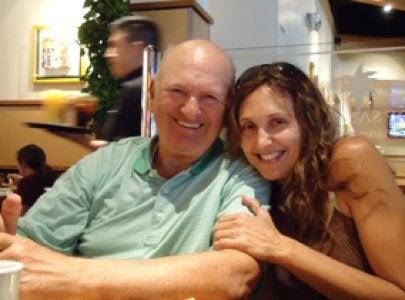 Jane Dagmi with her father Sheldon Z. Myers