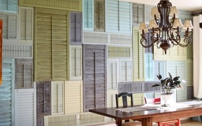 Repurposed Shutters - Wall Treatment