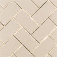 Ann Sacks Herringbone-patterned Ceramic Subway Tiles