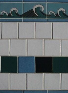 Fireclay Tile Crashing Waves Debris Tile Concept