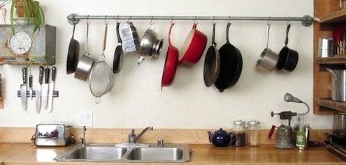 Creative Kitchen Storage - Galvanized Pipe Rack