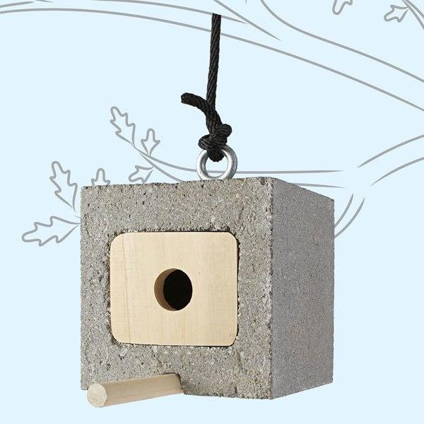 DIY with Cinder Blocks - Birdhouse