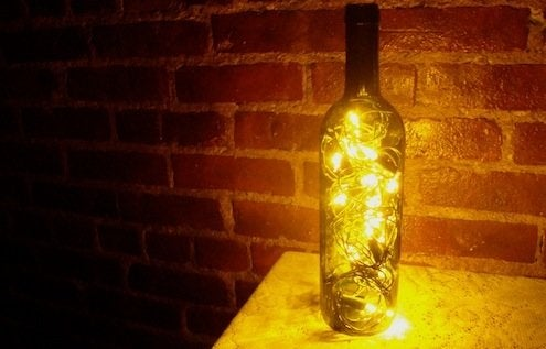 Wine Bottle Lanterns