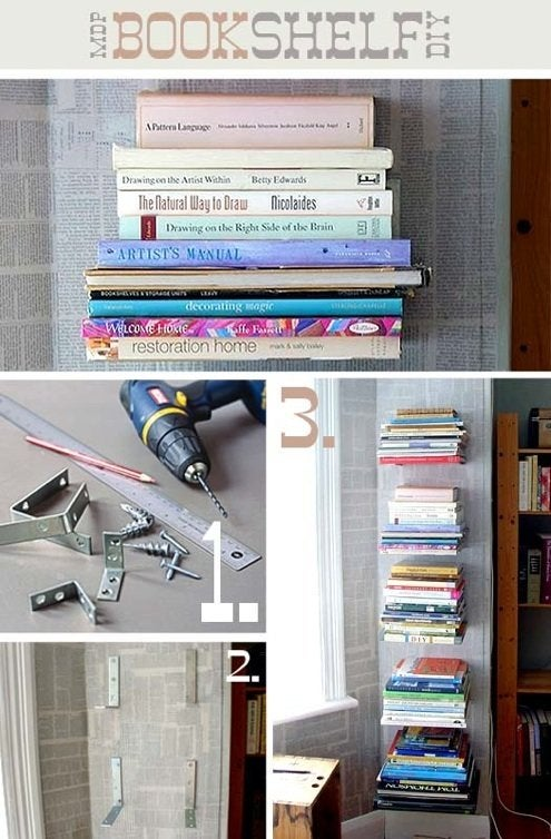 DIY Bookshelf - Float Mount