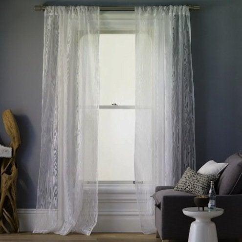 Faux Bois Curtain Panel